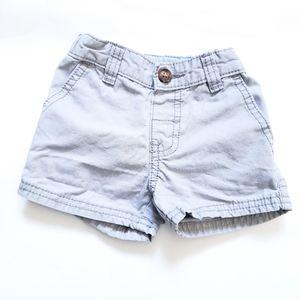 6M Carter's Shorts Grey 100% Cotton